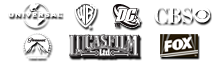 Logos: Warner Brothers, DC Comics, Paramount, 20th Century Fox, FX Network, CBS