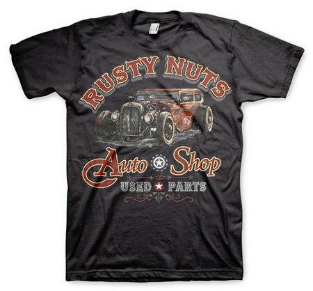 Rusty Nuts Auto Shop T-Shirt, Basic Tee