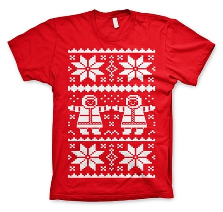 Retro X-Mas Knit Pattern T-Shirt, Basic Tee