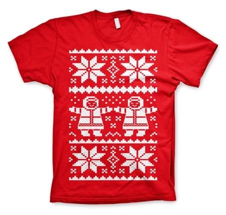 Retro X-Mas Knit Pattern T-Shirt, Basic Tee