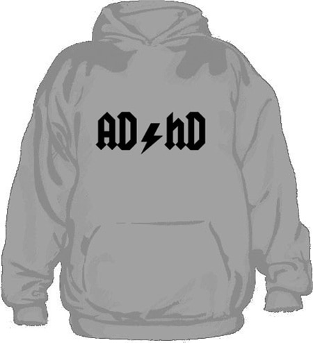 AD/HD Hoodie, Hooded Pullover