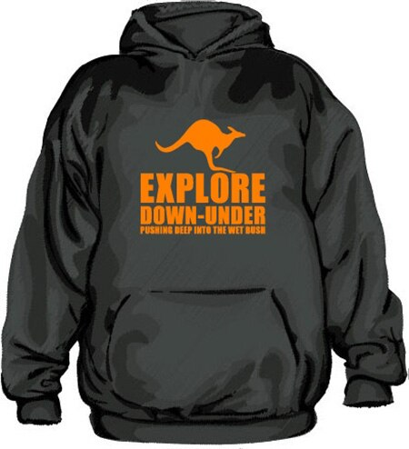 Explore Down Under Hoodie, Hooded Pullover