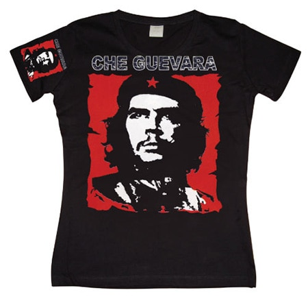 Che Guevara Red & White Girly T-shirt, Girly T-shirt