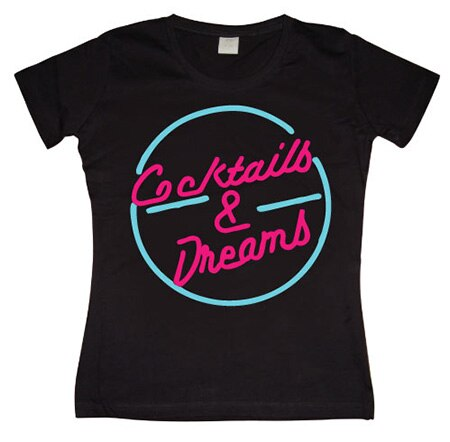 Coctails & Dreams Girly T-shirt, Girly T-shirt
