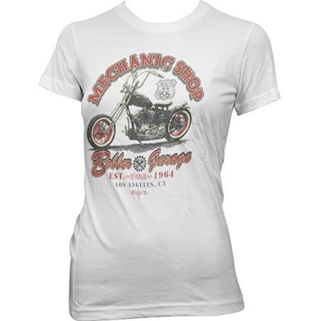 Mechanic Shop Bobber Girly Tee, Girly Tee