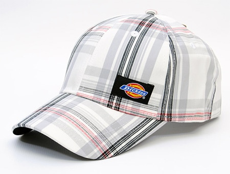 Dickies Plaid White Skate Cap