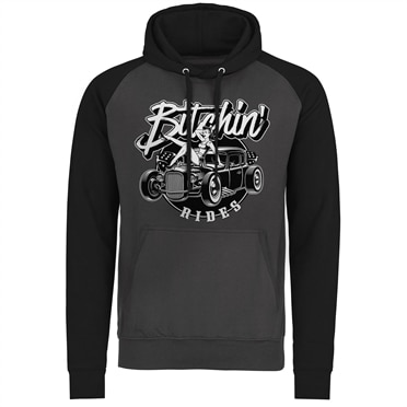 Bitchin' Rides - Hot Rod Hot Girls Baseball Hoodie, Baseball Hoodie