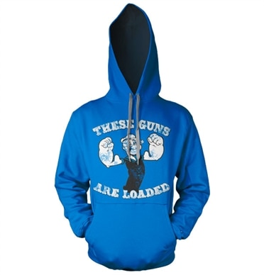 Popeye - These Guns Are Loaded Hoodie, Hooded Pullover