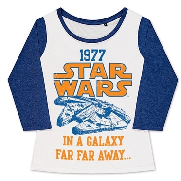 Star Wars 1977 Girly Baseball Tee, Girly Baseball Tee