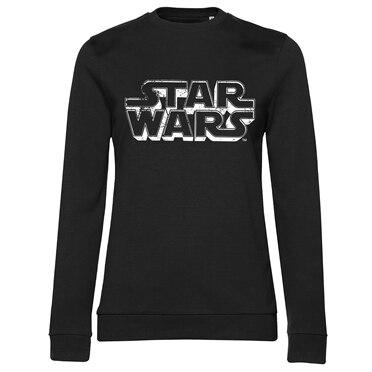 Star Wars Distressed Logo Girly Sweatshirt, Girly Sweatshirt