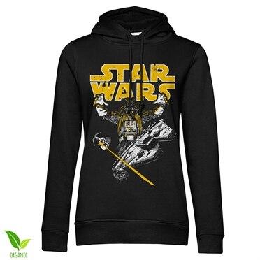 Star Wars - Vader Intimidation Girls Hoodie, Girls Organic Hoodie