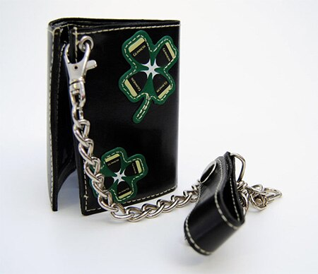 Guinnes Chain Leather Wallet