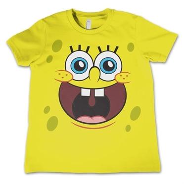 Sponge Happy Face Kids T-Shirt, Kids T-Shirt