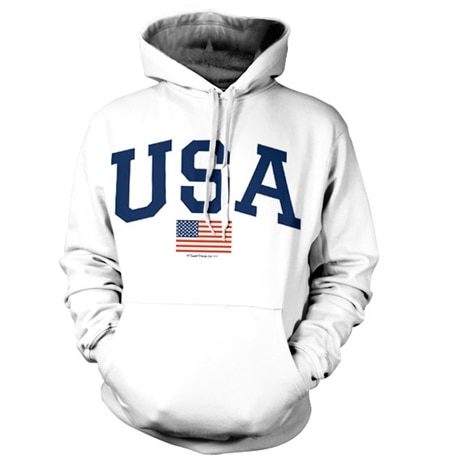 USA Varsity Flag Hoodie, Hooded Pullover