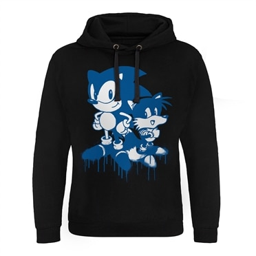 Sonic and Tails Sprayed Epic Hoodie, Epic Hooded Pullover