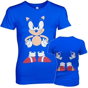 Sonic The Hedgehog - Front & Back Girly Tee, Girly Tee