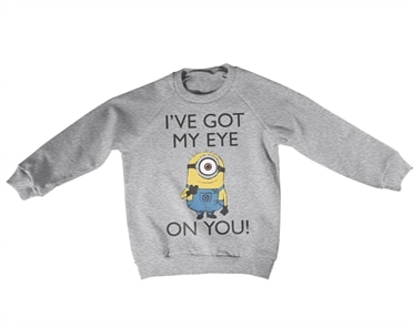 Minions - I Got My Eye On You Kids Sweatshirt, Kids Sweatshirt