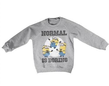Minions - Normal Life Is Boring Kids Sweatshirt, Kids Sweatshirt