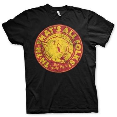Porky Pig - That's All Folks! T-Shirt, Basic Tee
