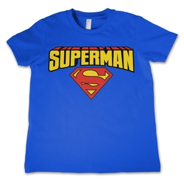 Superman Blockletter Logo Kids T-Shirt