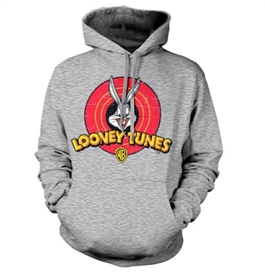 Looney Tunes Distressed Logo Hoodie, Hooded Pullover