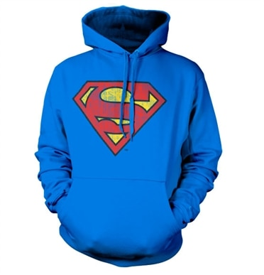Superman Washed Shield Hoodie, Hooded Pullover