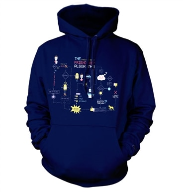 The Friendship Minions Algorithm Hoodie, Hooded Pullover