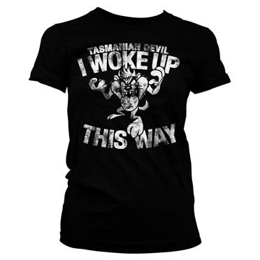 Tasmanian Devil - I Woke Up This Way Girly Tee, Girly Tee