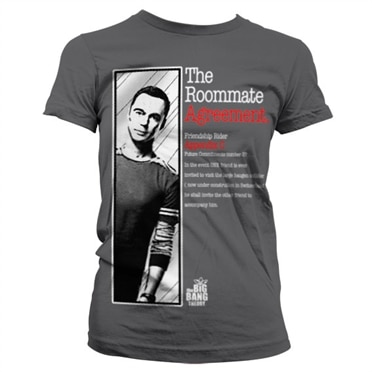 The big bang theory the roommate agreement girly tee for T shirt licensing agreement