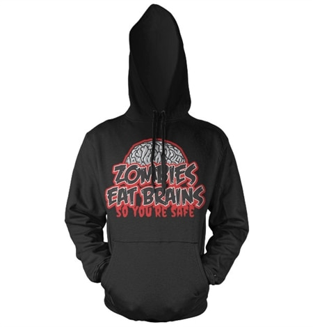 Zombies Eat Brains Hoodie, Hooded Pullover
