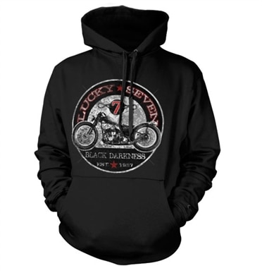 Lucky Seven Black Darkness Hoodie, Hooded Pullover