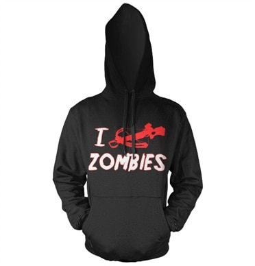 I Crossbow Zombies Hoodie, Hooded Pullover