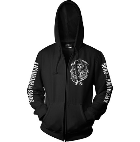 SOA Scroll Logo Zipped Hoodie