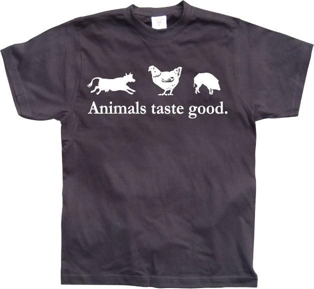 Animals taste good