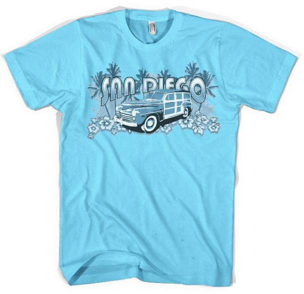San Diego Woodie T-Shirt