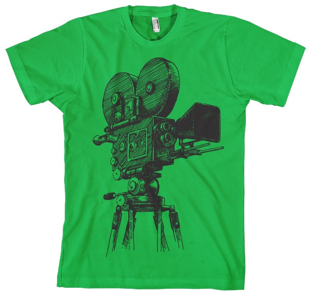 Movie Camera Tripod T-Shirt