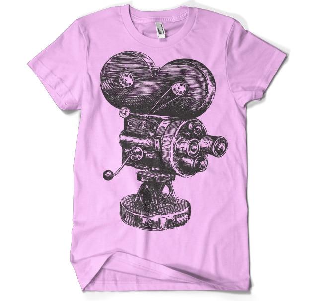 Movie Camera Sketch T-Shirt