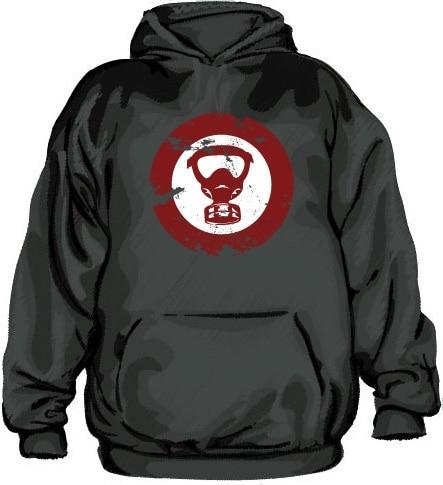 Gas Mask Icon Grunge Hoodie