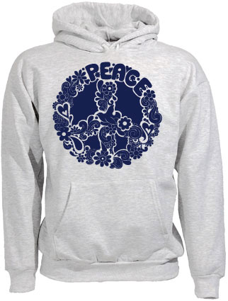 Psychedelic Peace Sign Hoodie