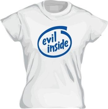 Evil Inside Girly T-shirt