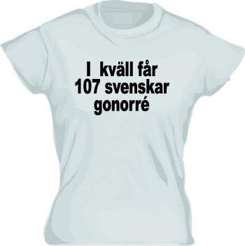Ikväll Får 107... Girly T-shirt