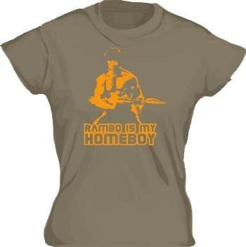 Rambo Is My Homeboy Girly T-shirt