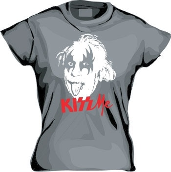 Kiss Me Mr Einstein Girly T-shirt