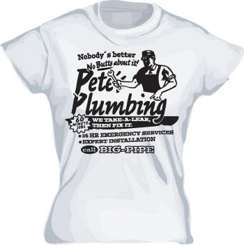 Petes Plumbing Girly T-shirt