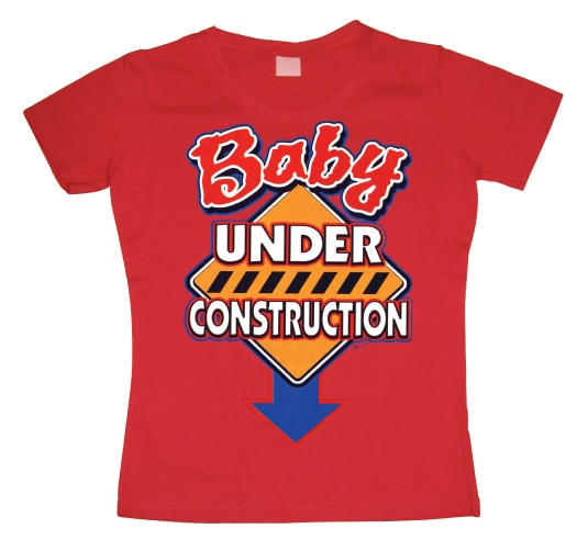 Baby Under Construction Girly T-shirt