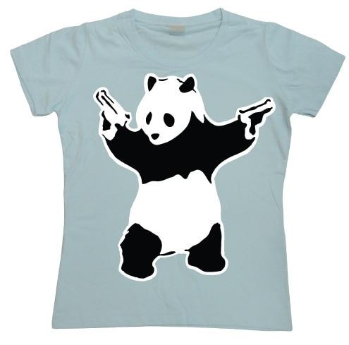 Banksy Panda Girly T-shirt