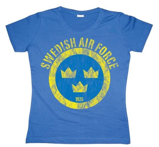 Swedish Airforce Distressed Girly T-shirt
