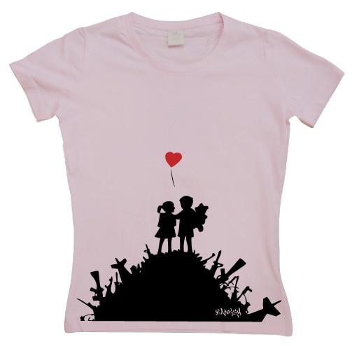 Banksy Finally Girly T-shirt