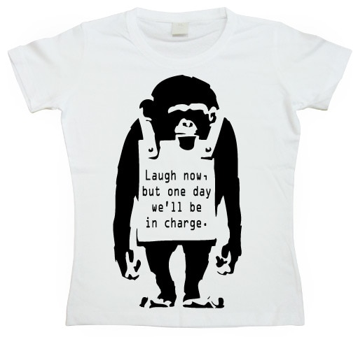 Banksy - Laugh Now! Girly T-shirt