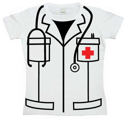 Nurse Cover Up Girly T-shirt